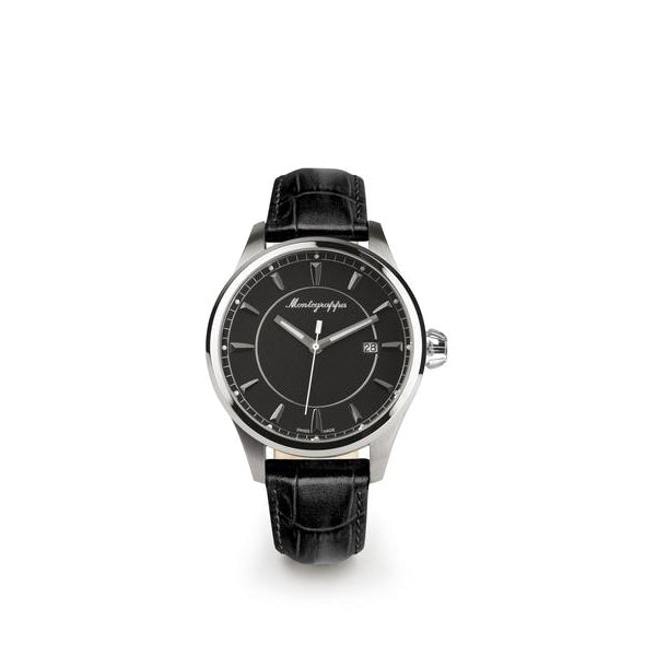 Fortuna Three Hands Watch - Black Strap