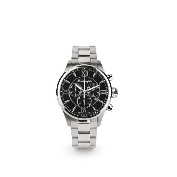 Fortuna Chronograph Watch - Stainless Steel & Black Dial