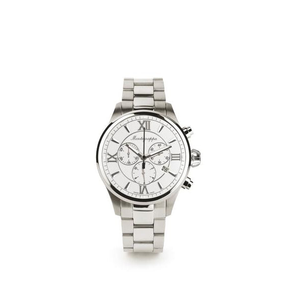 Fortuna Chronograph, Steel, Silver Dial, Steel Bracelet