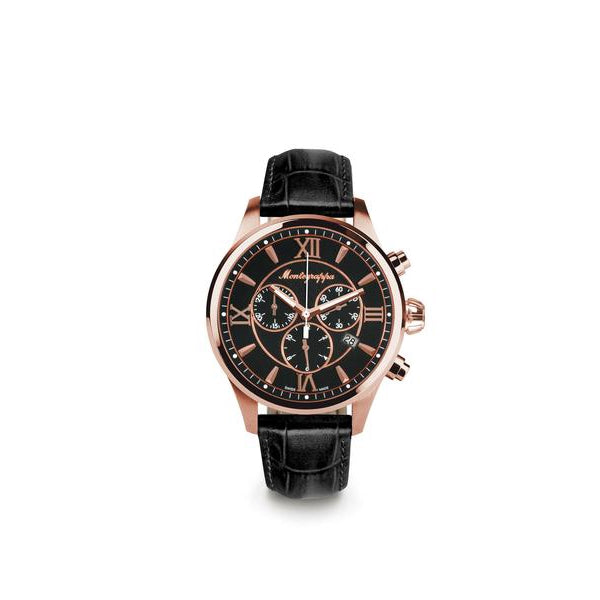 Fortuna Chronograph Watch - Rose Gold