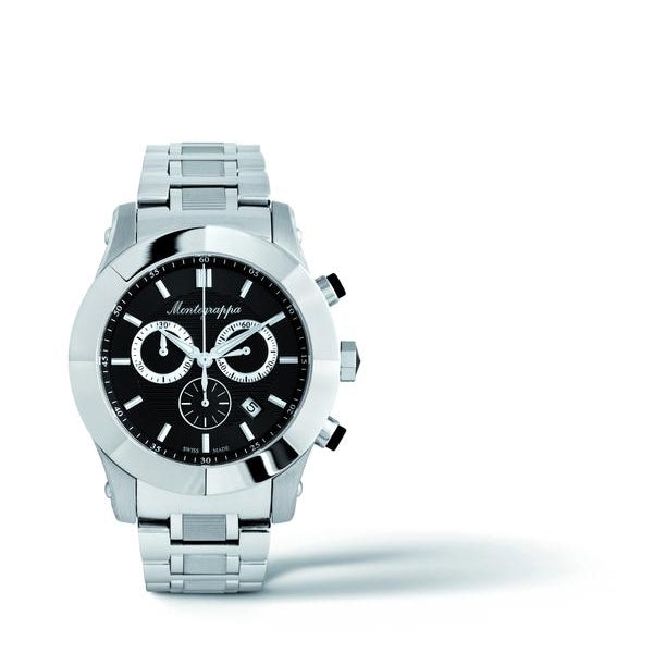 Nerouno Chronograph Watch - Steel, Black Dial
