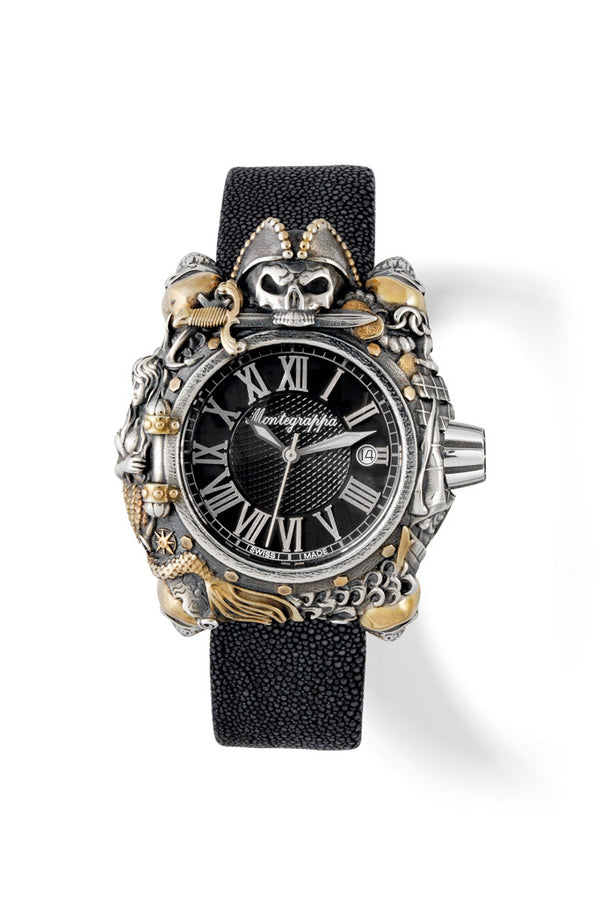 Pirates watch - Silver & Vermeil