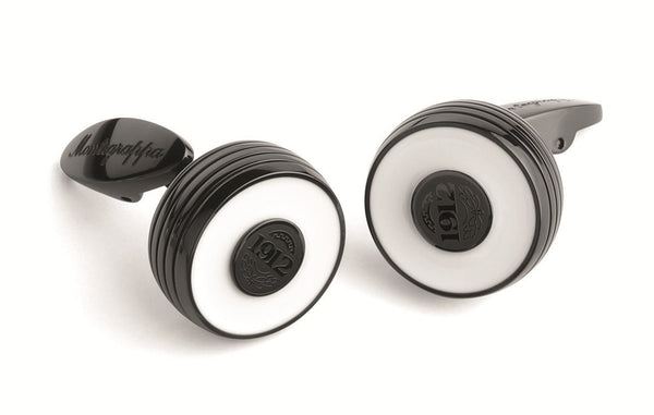 Piacere Cufflinks - Black & White