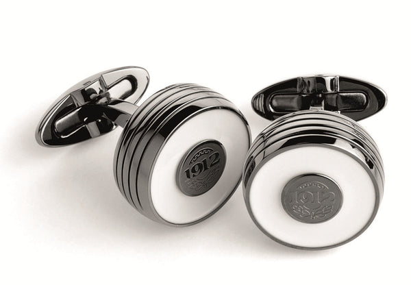 Piacere Cufflinks - White & Gun Metal