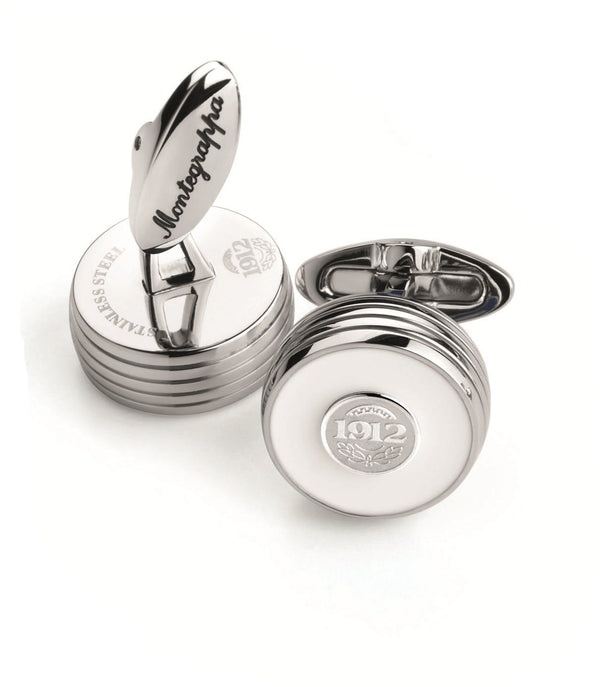 Piacere Cufflinks White Silver Color