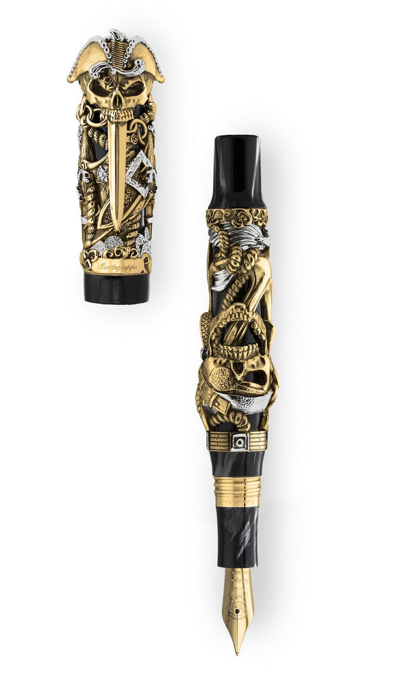Pirates Fountain Pen - Gold