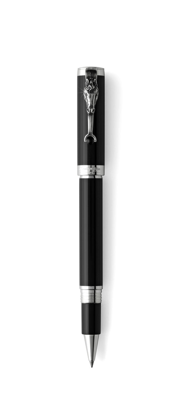 Horse Rollerball Pen - Silver with horse clip