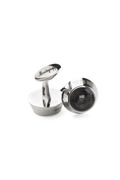 Miya Cufflinks, Black Inlay