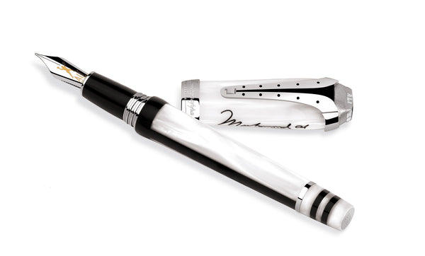 Muhammad Ali Fountain Pen - Silver & Resin