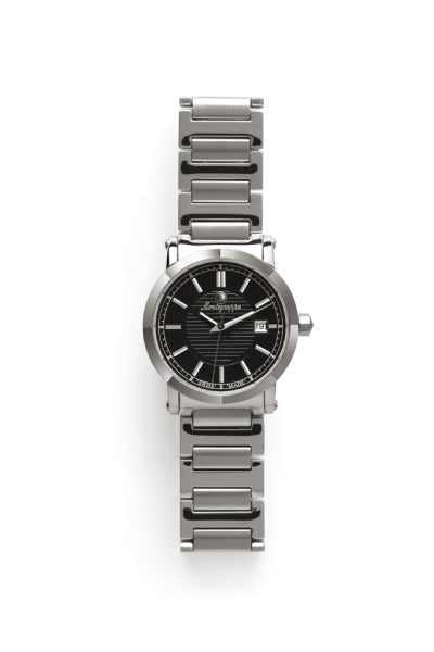 Parola Watch, Steel, Black Dial