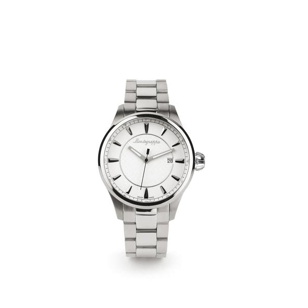 Fortuna Three-Hands Watch, Steel, Silver Dial, Steel Bracelet