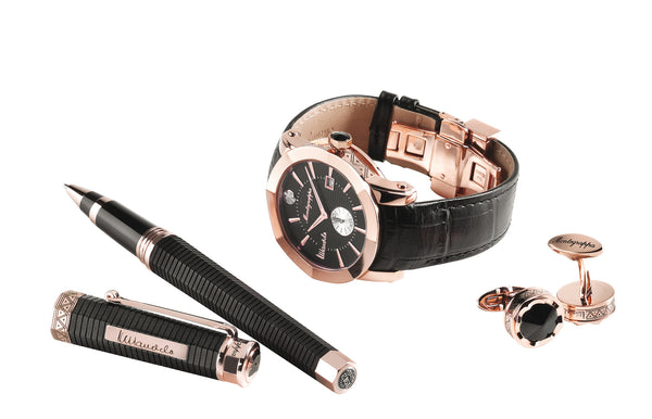 NeroUno Nelson Mandela Set - Rollerball Pen, Watch, Cufflinks