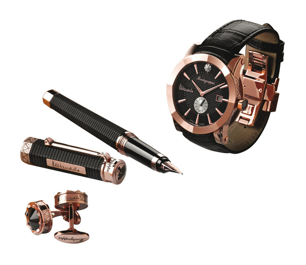 NeroUno Nelson Mandela Set - Fountain Pen, Watch, Cufflinks