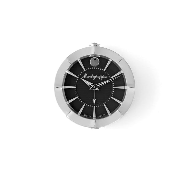 Table Clock - Travel - Black Dial - with Alarm