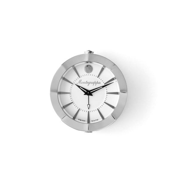 Table Clock - Travel - Silver Dial - without Alarm