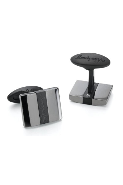 Rettangolo Cufflinks, IP Black & IP Gun Metal