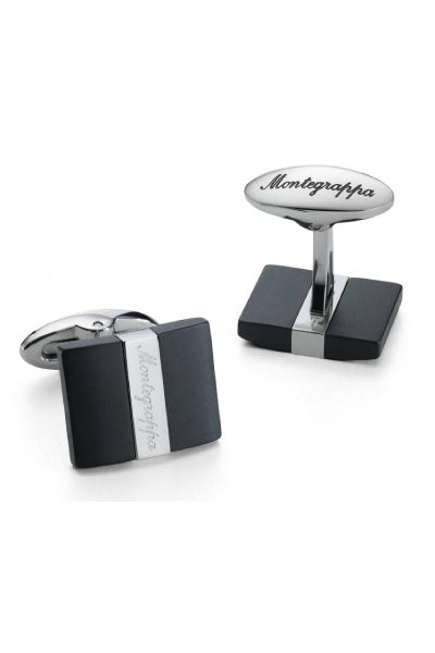 Rettangolo Cufflinks, Steel & IP Black