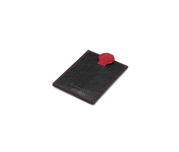 Credit Card Case - Flat - Black & Red