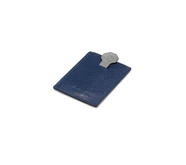 Credit Card Case - Flat - Blue & Grey