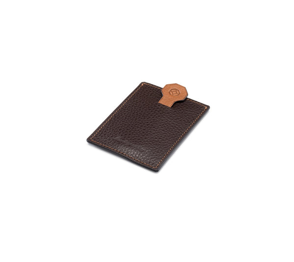 Credit Card Case - Flat - Brown & Caramel