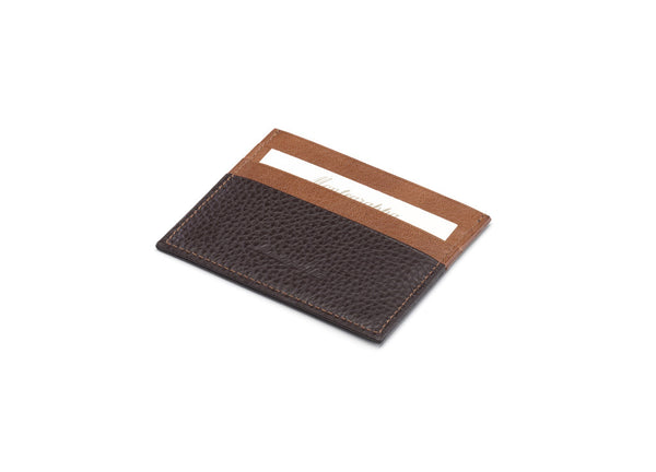 Credit Card Case 3+3 CC - Brown & Caramel