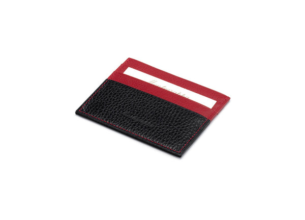 Credit Card Case 3+3 CC - Black & Red