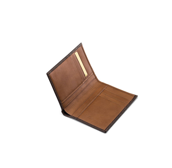 Vertical Wallet 3+3 CC - Brown & Caramel
