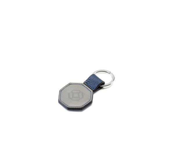 Key Holder - Octagonal - Blue & Grey
