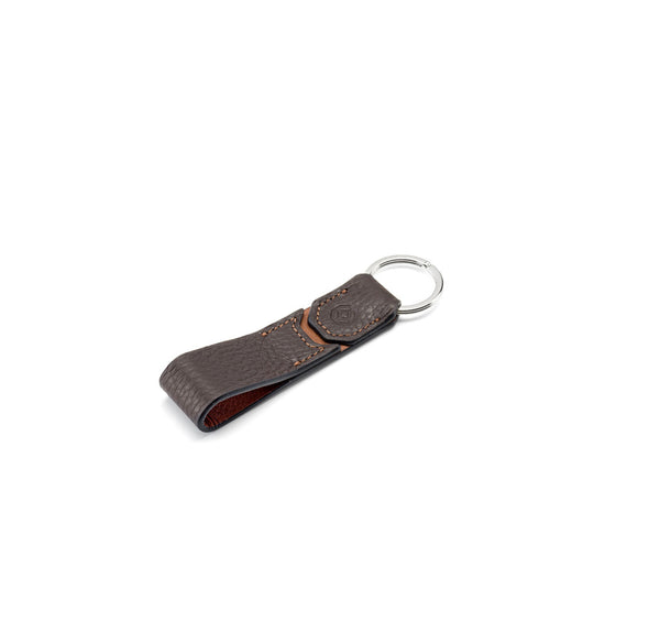 Belt Key Holder - Brown & Caramel