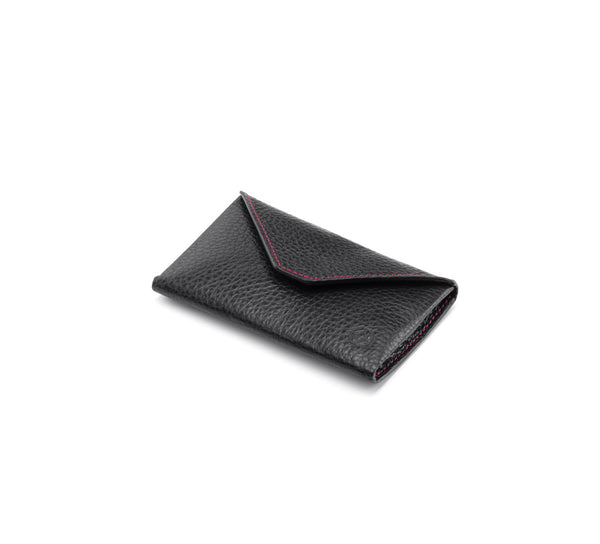 Business Card Case - Envelope Design - Black & Red