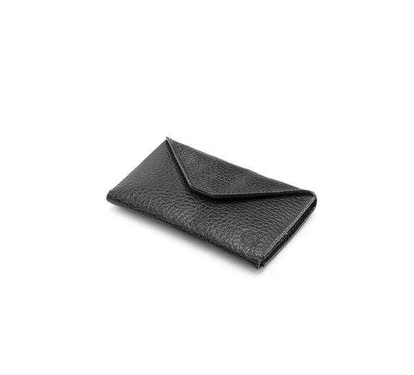 Business Card Case - Envelope Design - Black