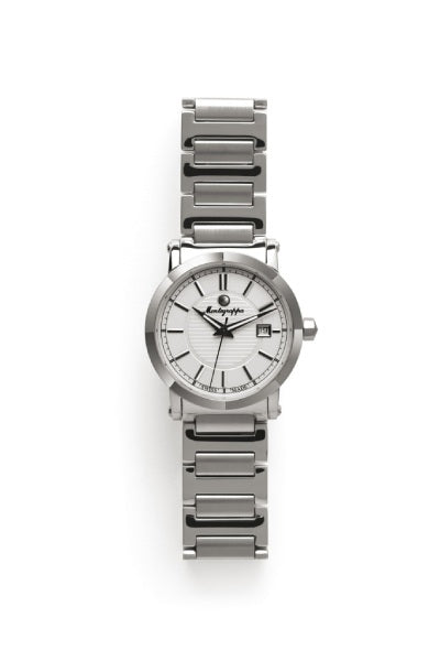 Parola Watch, Steel, White Dial