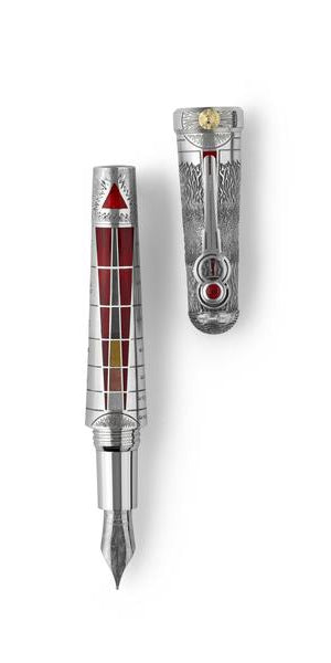 The Alchemist Fountain Pen - All Silver, Ignis