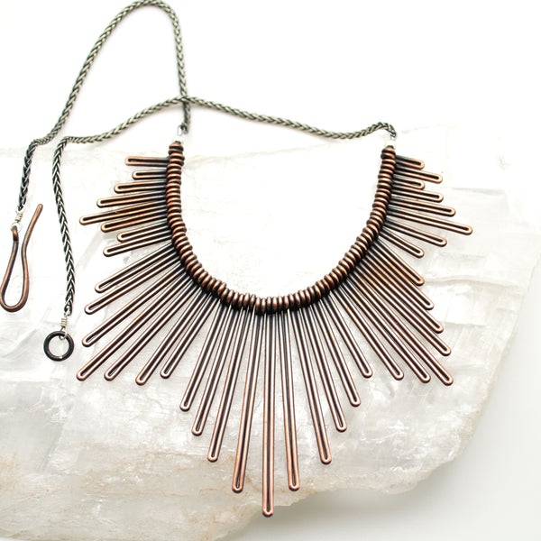 pine needle necklace : M