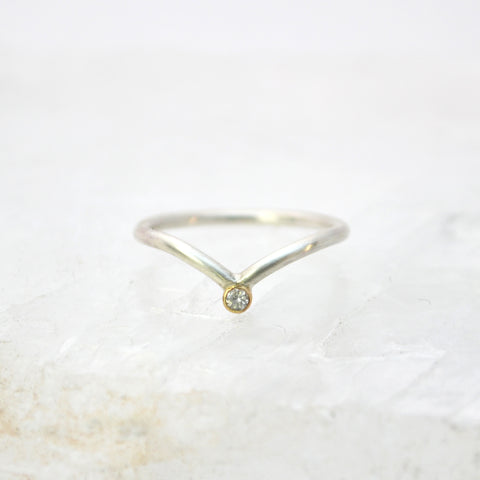 pisces ring : silver & 18k