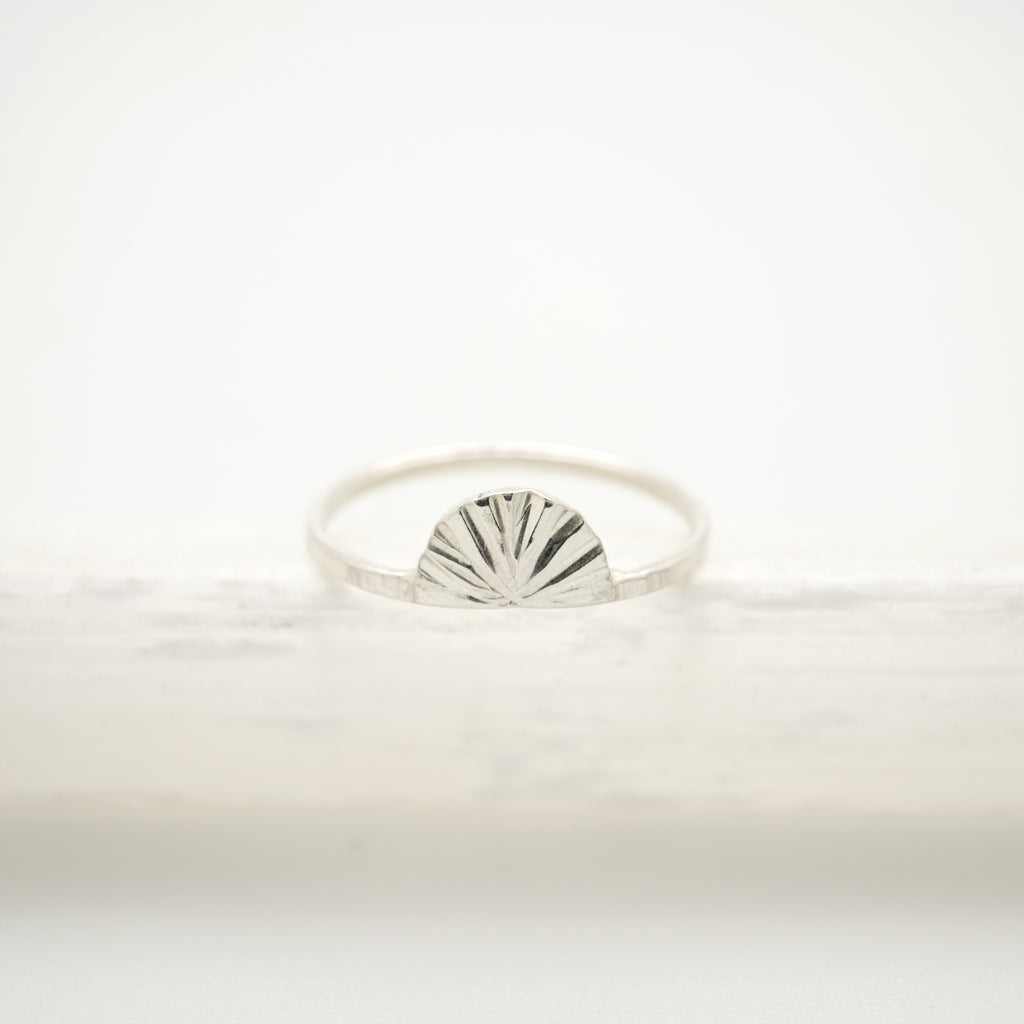 sunset ring : silver