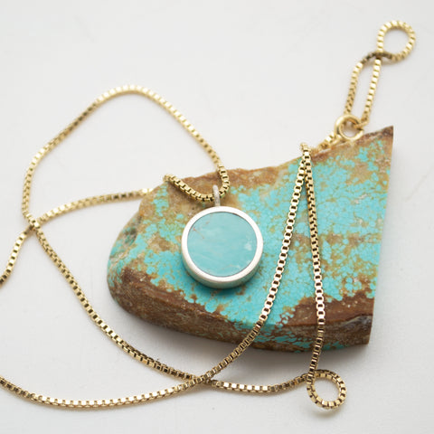 lunar necklace : baja california turquoise