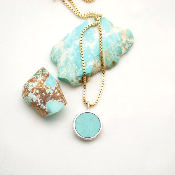 lunar necklace : nevada turquoise