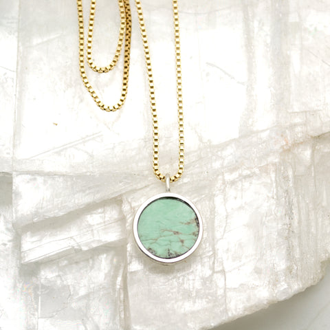 lunar necklace : utah variscite (2)