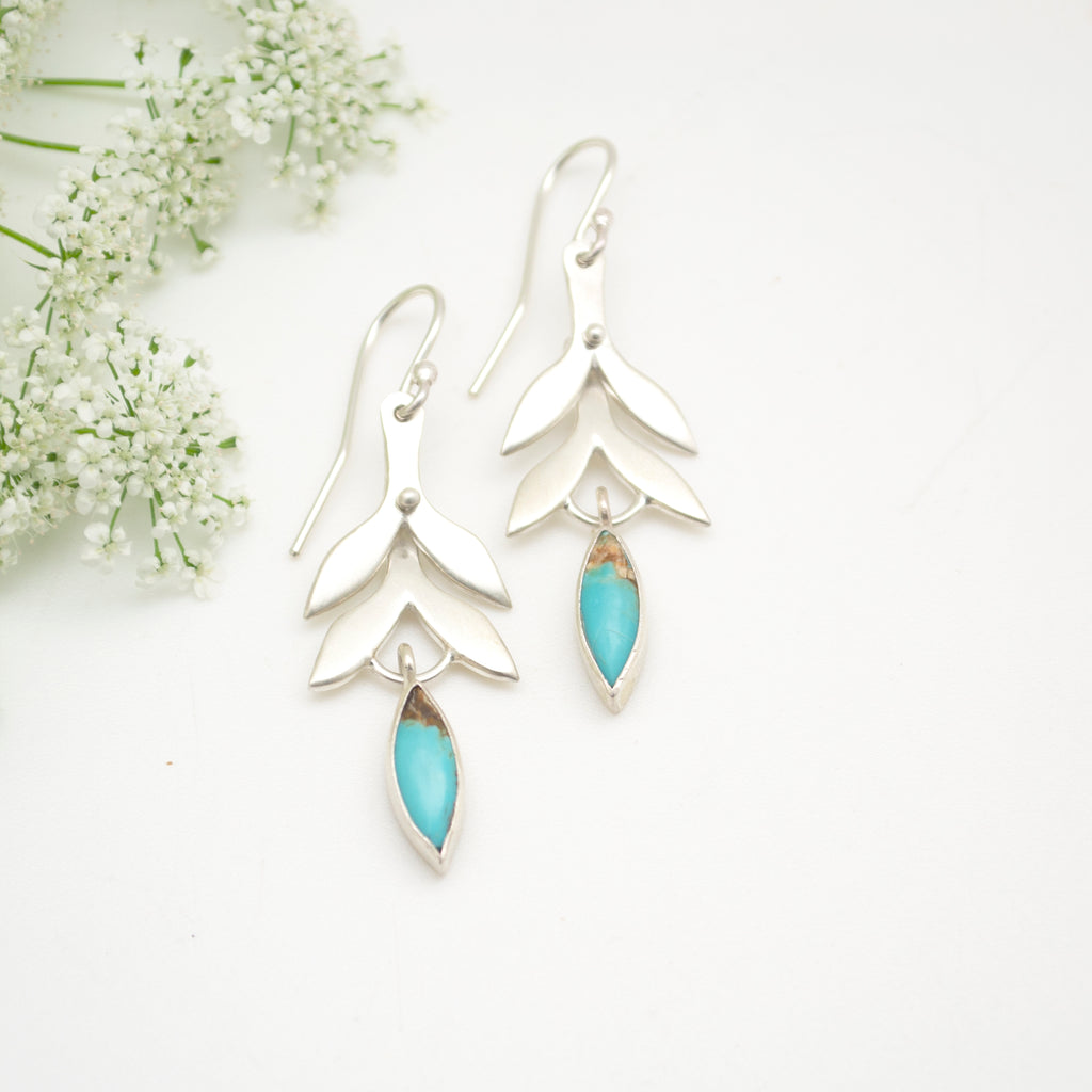 vine drops with turquoise : small