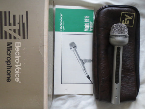 EV ELECTROVOICE RE18 RARE VINTAGE SUPERCARDIOID DYNAMIC MICROPHONE+XLR CONNECTOR