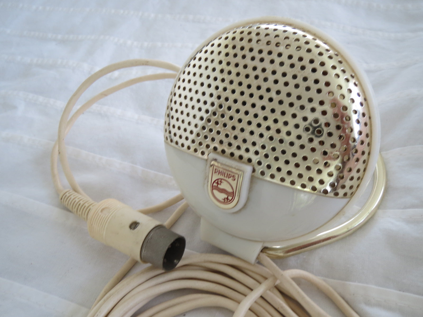 PHILIPS EL3750 RARE VINTAGE CARDIOID DYNAMIC MICROPHONE INCLUDING XLR CABLE