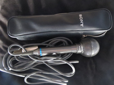 SONY F-115 WEATHER RESISTANT HANDHELD OMNIDIRECTIONAL DYNAMIC MICROPHONE+CABLE