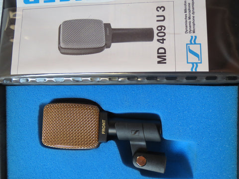 SENNHEISER MD409 RARE VINTAGE CARDIOID DYNAMIC MICROPHONE WITH XLR CONNECTOR