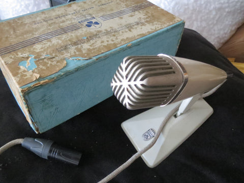GRUNDIG/BEYER GBM125 VINTAGE CARDIOID RIBBON MICROPHONE INCLUDING XLR CABLE!