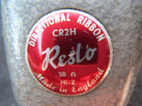 RESLO CR2H RARE VINTAGE BRITISH RIBBON MICROPHONE, UPDATED WITH XLR CONNECTOR