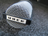 UHER M539 VINTAGE DYNAMIC CARDIOID MICROPHONE INCLUDING CASE, CLIP AND XLR CABLE