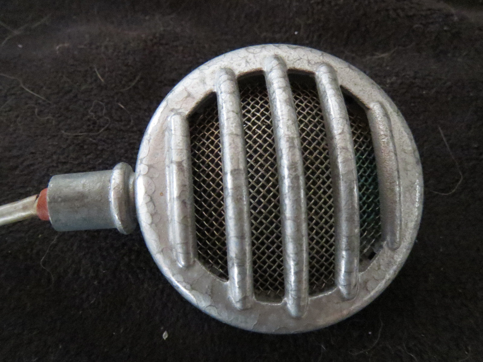 FUNKWERK LEIPZIG KM7055 RARE VINTAGE CRYSTAL MICROPHONE WITH ATTACHED CABLE