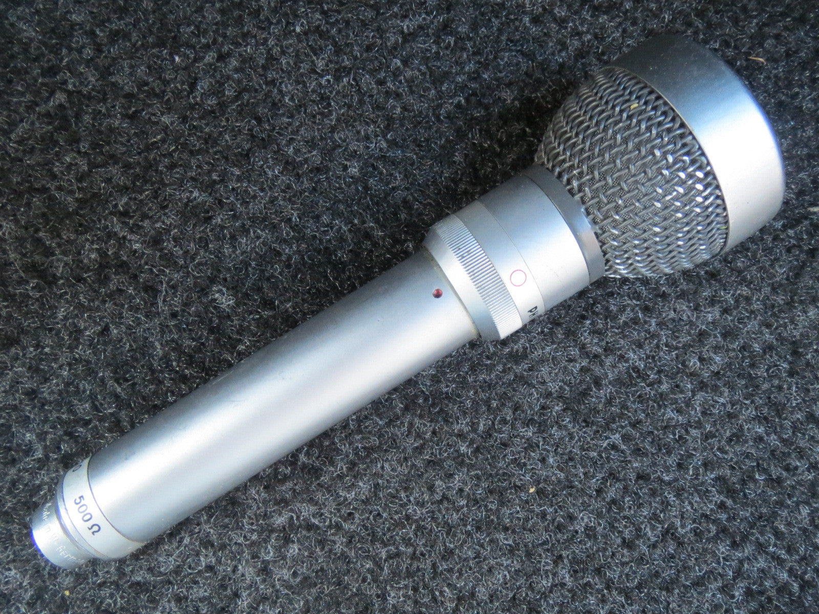 PHILIPS EL6033 VINTAGE CARDIOID/OMNI DYNAMIC MICROPHONE WITH XLR ADAPTER CABLE