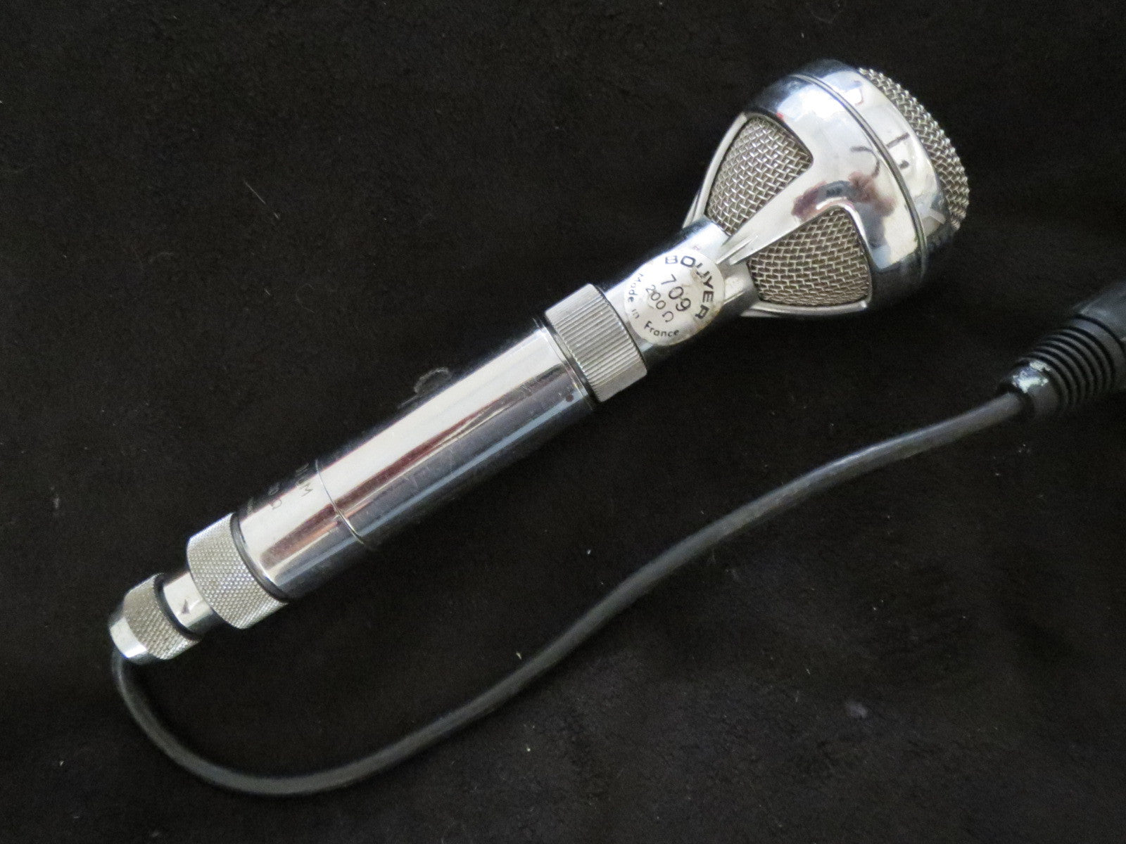 BOUYER GM709 RARE VINTAGE FRENCH CARDIOID DYNAMIC MICROPHONE WITH  XLR CABLE